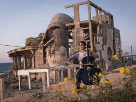 """Karma Khaial, a 19-year-old law student who dreamt of becoming a professional cellist. From the """"Gaza"""" documentary."""