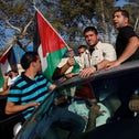 Palestinian prisoners celebrate their release as part of the 2011 Shalit deal.