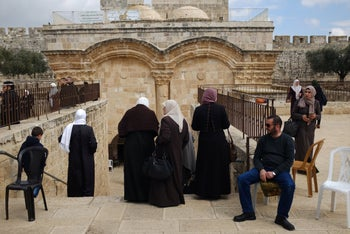 The al-Aqsa Mosque compound in the Old City of Jerusalem, March 2019.