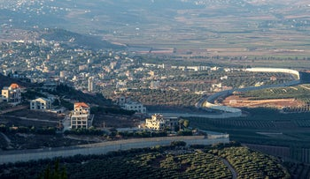 The Lebanese Bekaa valley as seen from the Israeli side of the border, August 26, 2019.