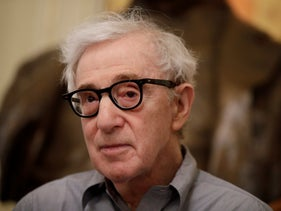 File: Director Woody Allen attends a press conference at La Scala opera house, in Milan, Italy