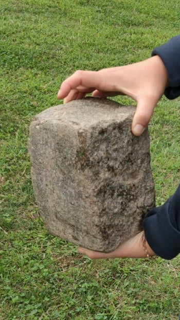 The brick used in the attack
