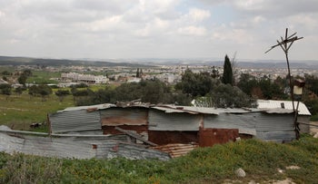 The Bedouin town of Lakiya in southern Israel.