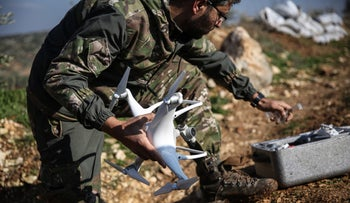 A drone used in Syria last year.