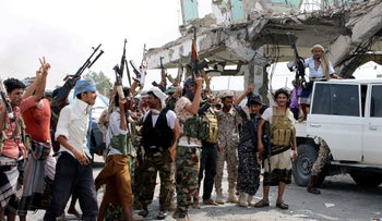 Southern separatist fighters are pictured during clashes with government forces in Aden, Yemen August 29, 2019.