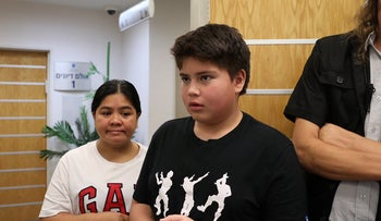 13-year-old Rohan Perez, who was deported along with his mother, Rosemarie, to the Philippines, August 11, 2019.