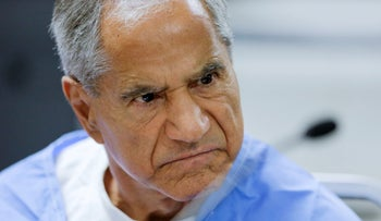 Sirhan Sirhan at a parole hearing at the Richard J. Donovan Correctional Facility in San Diego, CA, February 10, 2016