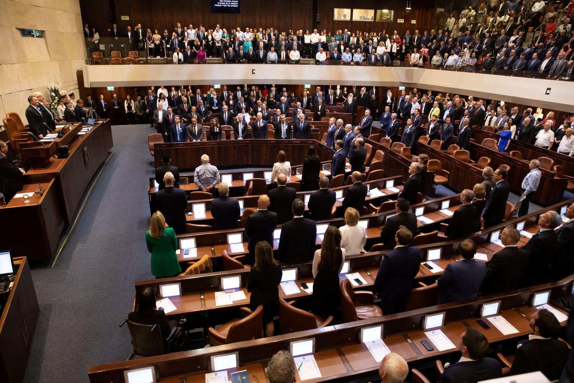 The knesset chamber. The plan is to go up from 120 to 140 members of knesset.