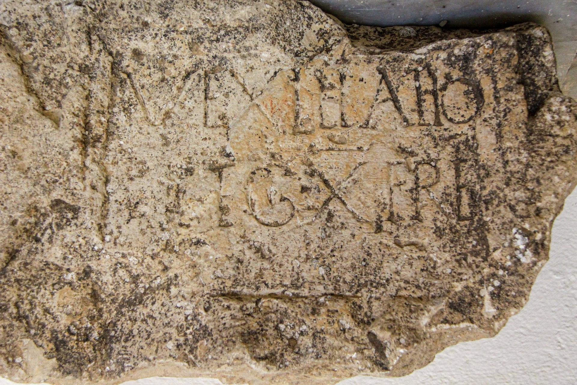 "Latin inscription attesting to the presence at Kiriath Yearim of a ""vexillatio"" - a detachment - of the Xth Roman legion"