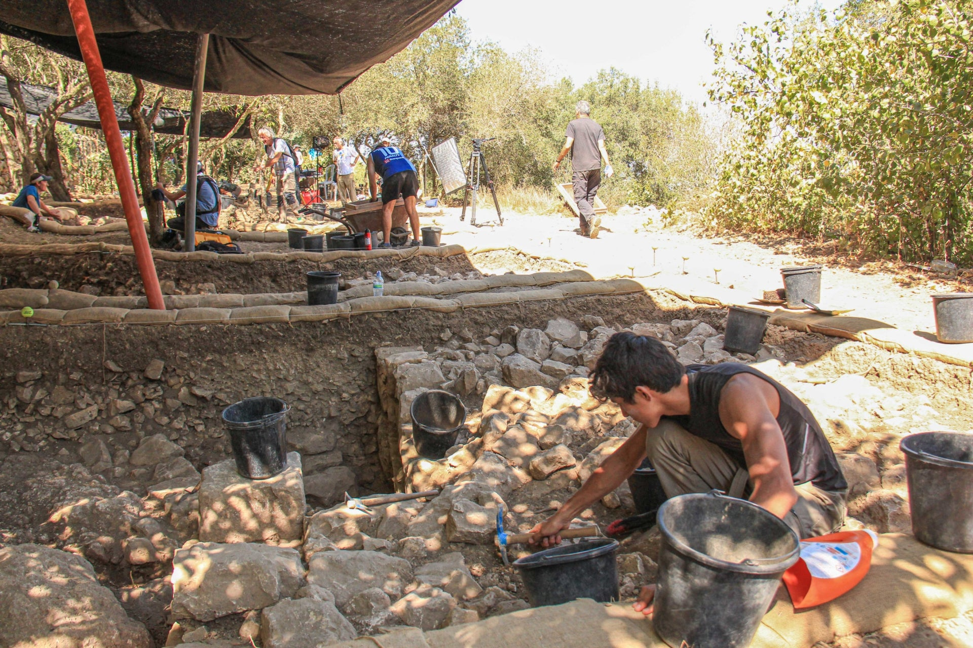 Archaeologists uncover the massive fortification walls at Kiriath Yearim