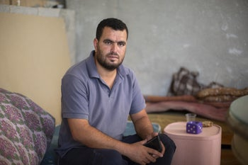 Nasser Nawaja, one of the 350 or so residents of Khirbet Sussia in the West Bank.