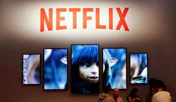 The Netflix booth at Europe's leading digital games fair Gamescom, in Cologne, Germany, August 21, 2019.