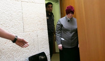 Malka Leifer during a hearing at Jerusalem District Court, March 2018.