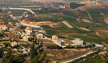 The barrier under construction to separate Israel and Lebanon. A wound in the landscape, it recalls the walls in the West Bank and along the Gaza border.