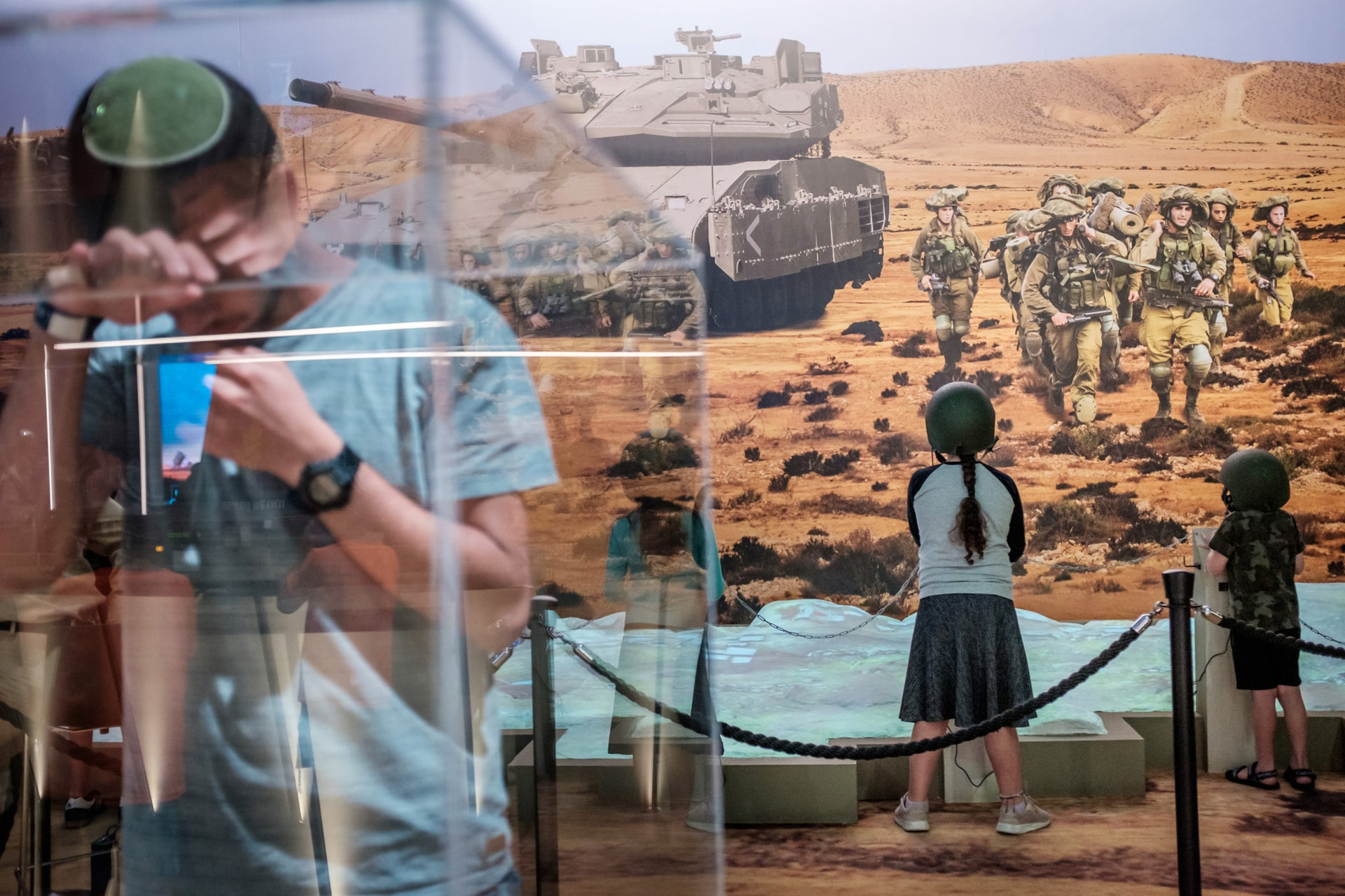 """The """"Our IDF"""" exhibition in Jerusalem."""