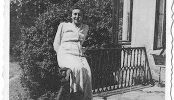 Blanka Goldman at her family's estate after World War II, before she emigrated to Australia.