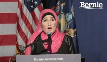 Sarsour campaigns for Sanders: Proud to help elect first Jewish president
