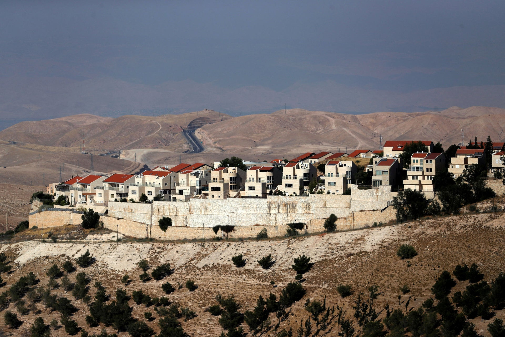 A general view of the Israeli settlement of Maale Adumim
