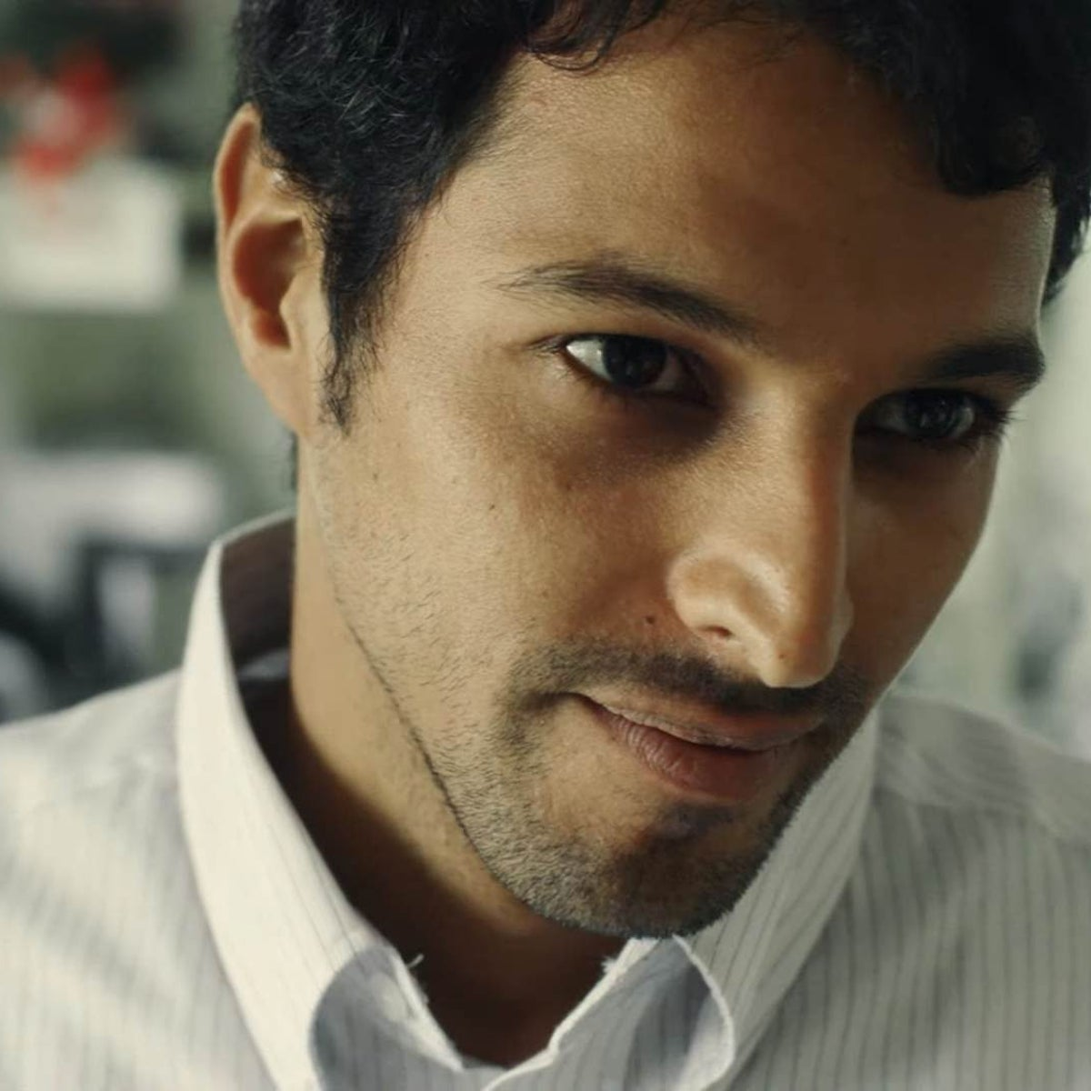 Amir, portrayed well by Yehuda Nahari Halevi (pictured), is a law student, who participates with his friends in stormy demonstrations against the Oslo Accords.