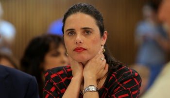 Ayelet Shaked in Tel Aviv, June 2019.