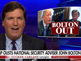 Tucker Carlson lambastes John Bolton after the news Donald Trump was getting a new national security adviser, September 10, 2019.