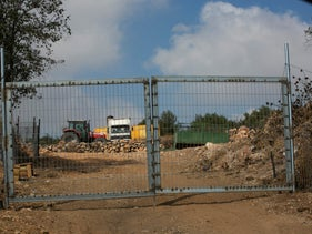 Heavy machinery at the JNF site.
