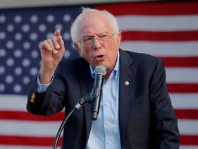 Democratic 2020 U.S. presidential candidate and U.S. Senator Bernie Sanders (I-VT) speaks at a campaign rally in Dover, New Hampshire, U.S. September 1, 2019
