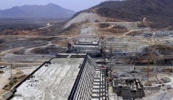 Ethiopia's Grand Renaissance Dam under construction.