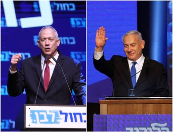 Benjamin Netanyahu and Benny Gantz, September 17, 2019.