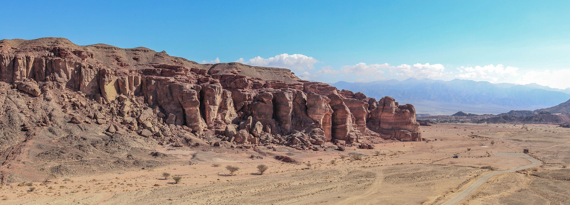 A view of the ancient copper mines in the Timna Valley, southern Israel