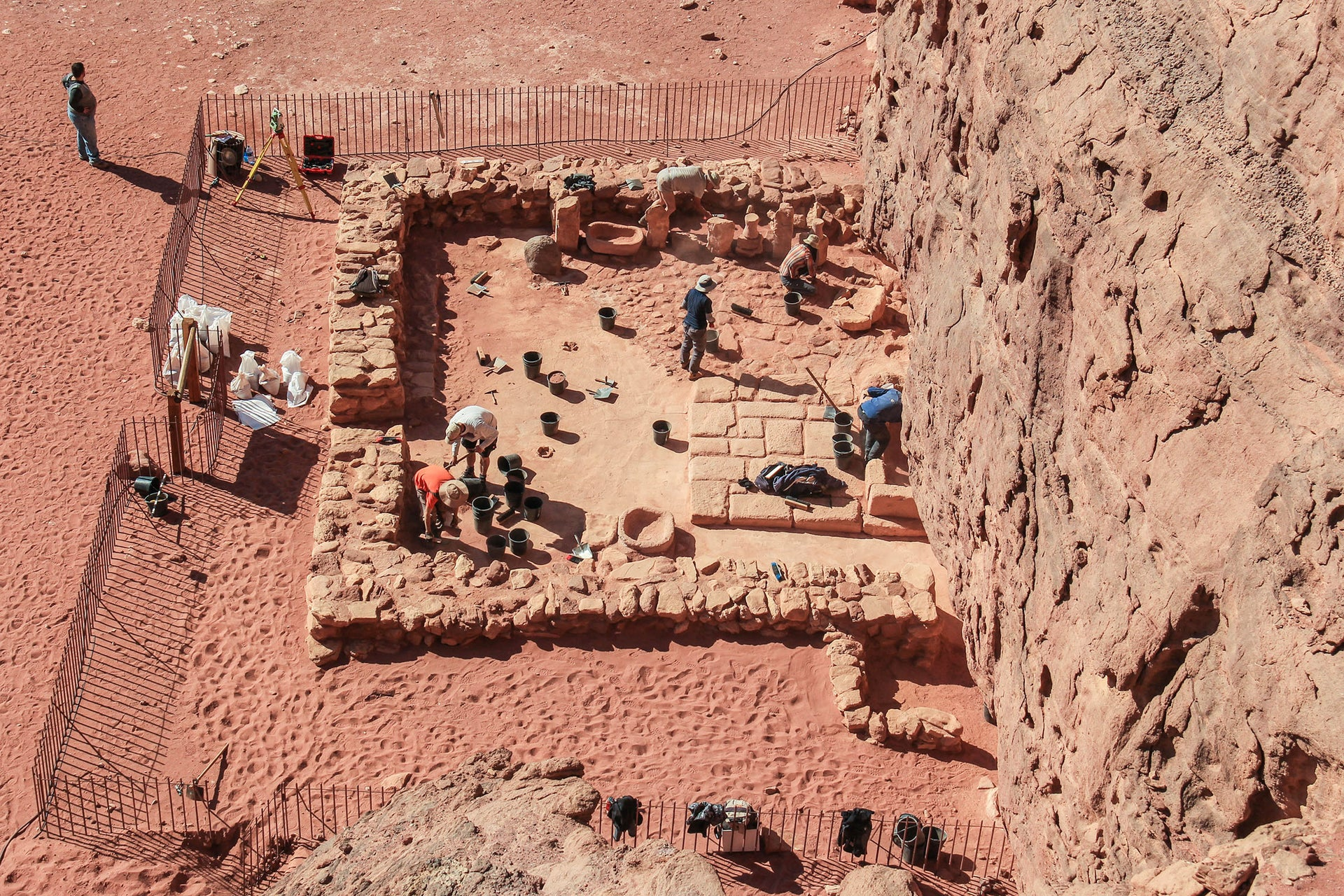 Remains of temple discovered at Timna, first used by the Egyptians in the Bronze Age and later by the Edomites in the Iron Age