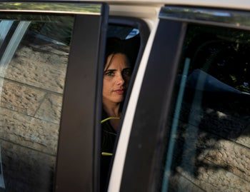 Ayelet Shaked in Jerusalem on Election Day, September 17, 2019.