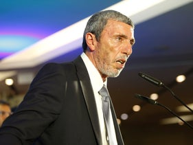 Habayit Hayehudi Chairman Rafi Peretz speaks after exit poll results are announced at the end of Israel's election, September 17, 2019.
