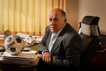 President of the Palestinian Football Association, Jibril Rajoub.