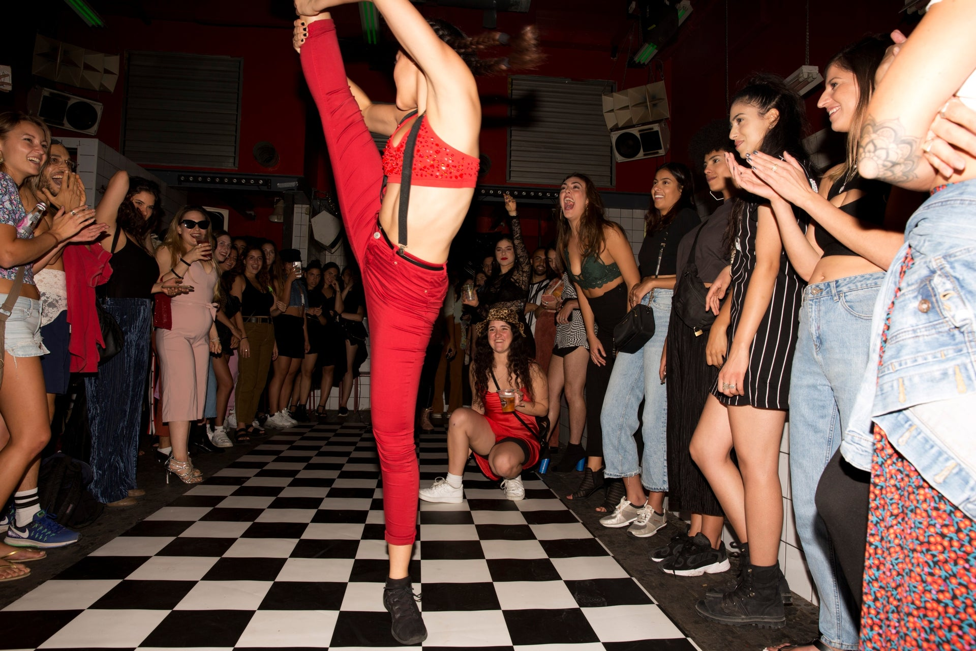 """Gaya Huller performing at the Alphabet Club ball in Tel Aviv, September 26, 2019. """"We need a real ball scene, with performers and houses,"""" she says."""