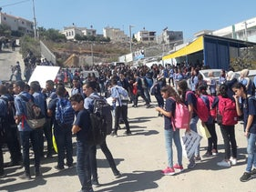 Schoolchildren strike, protest against violence in their community and police inaction, Umm al-Fahm, Israel, September 30, 2019