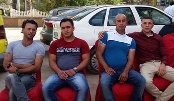 Abu Hafez (second left) with family members.