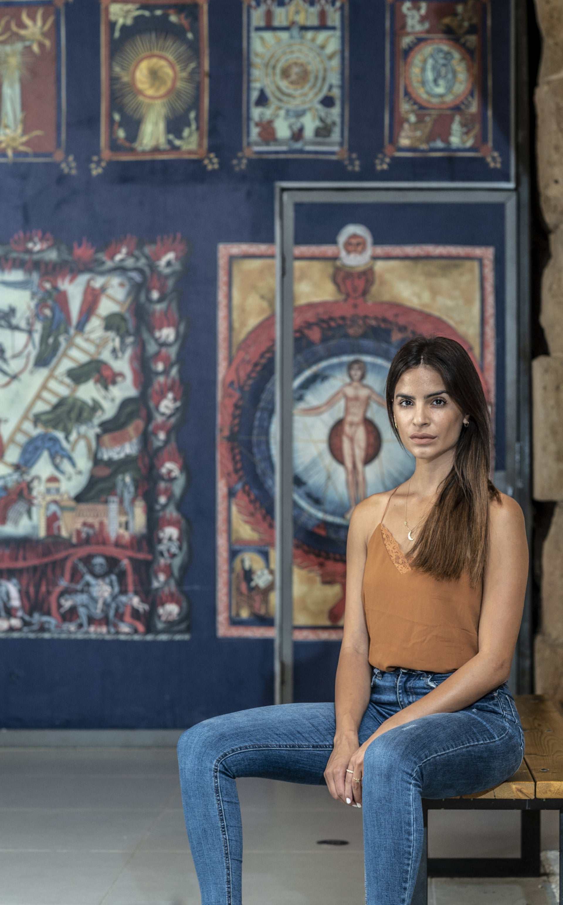 Luna Mansour, in the Knights' Halls in Acre, her hometown.