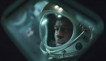 "Brad Pitt as Roy McBride, in ""Ad Astra."""