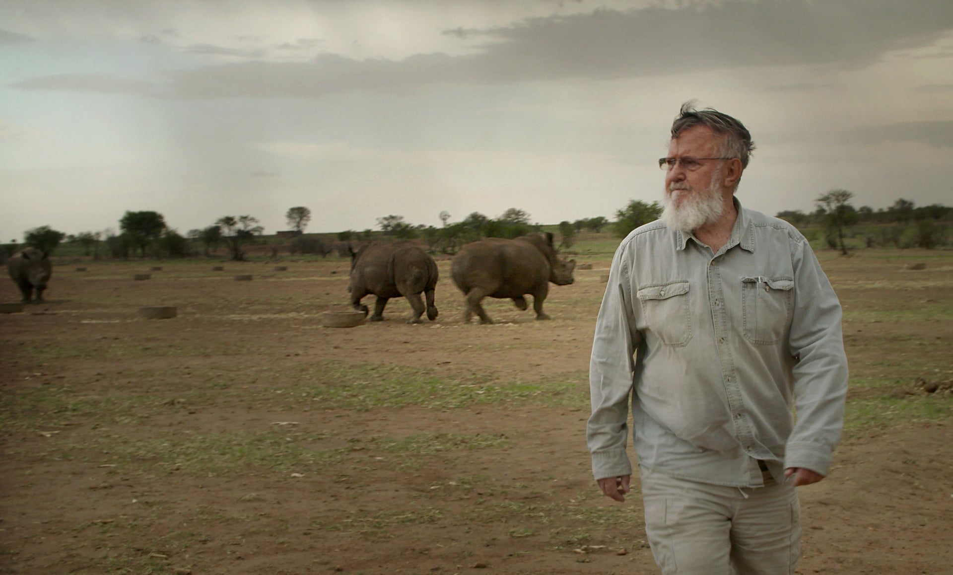 Rhino ranch owner John Hume. 'Trohpy' does not portray him as scum.