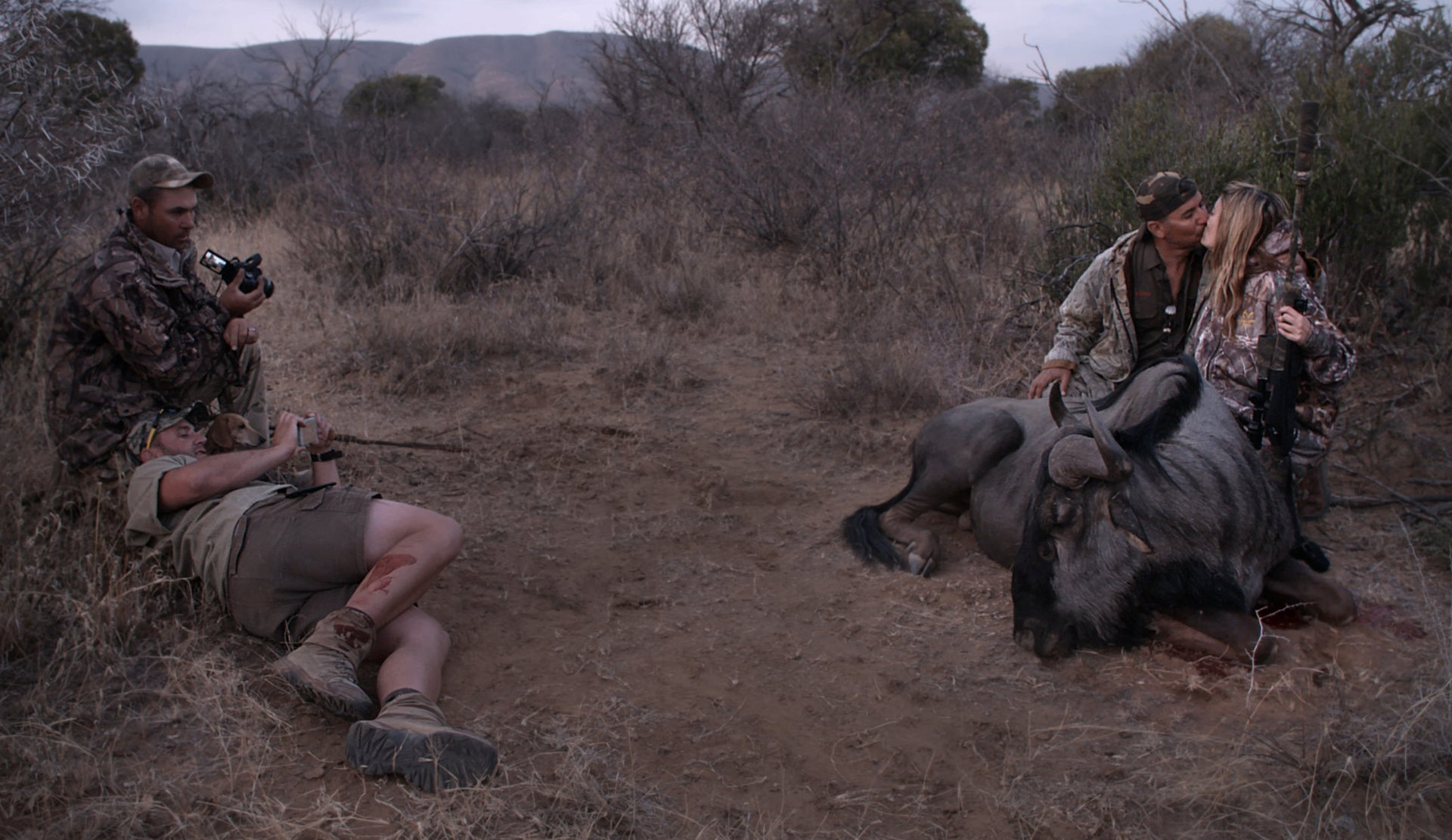 Hunting animals. A frame from the Emmy-winning documentary 'Trophy'