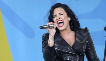 Singer Demi Lovato performs on ABC's 'Good Morning America' 2016 Summer Concert Series in New York, June 2016.