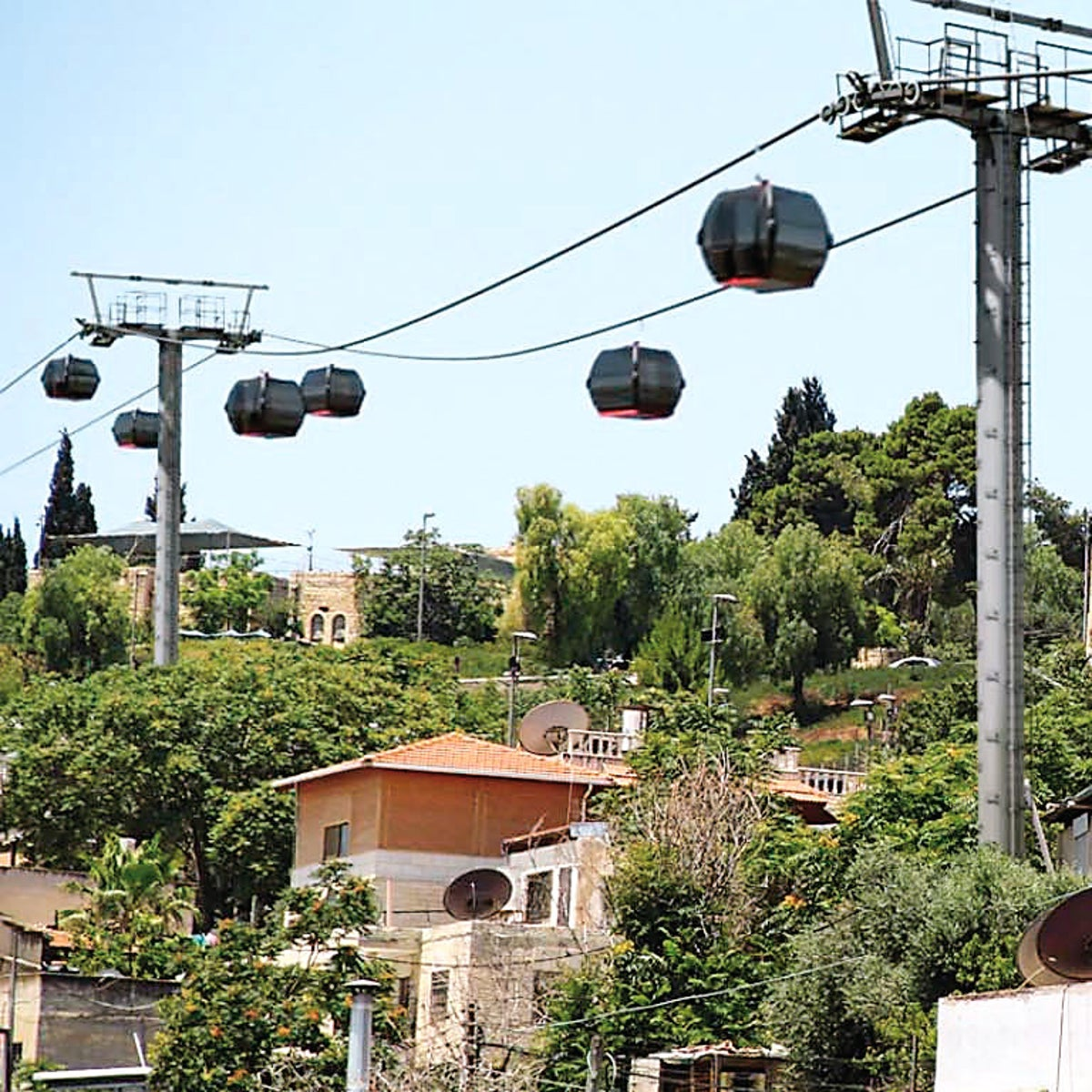 A visualization of the the cable car over Silwan, in East Jerusalem.