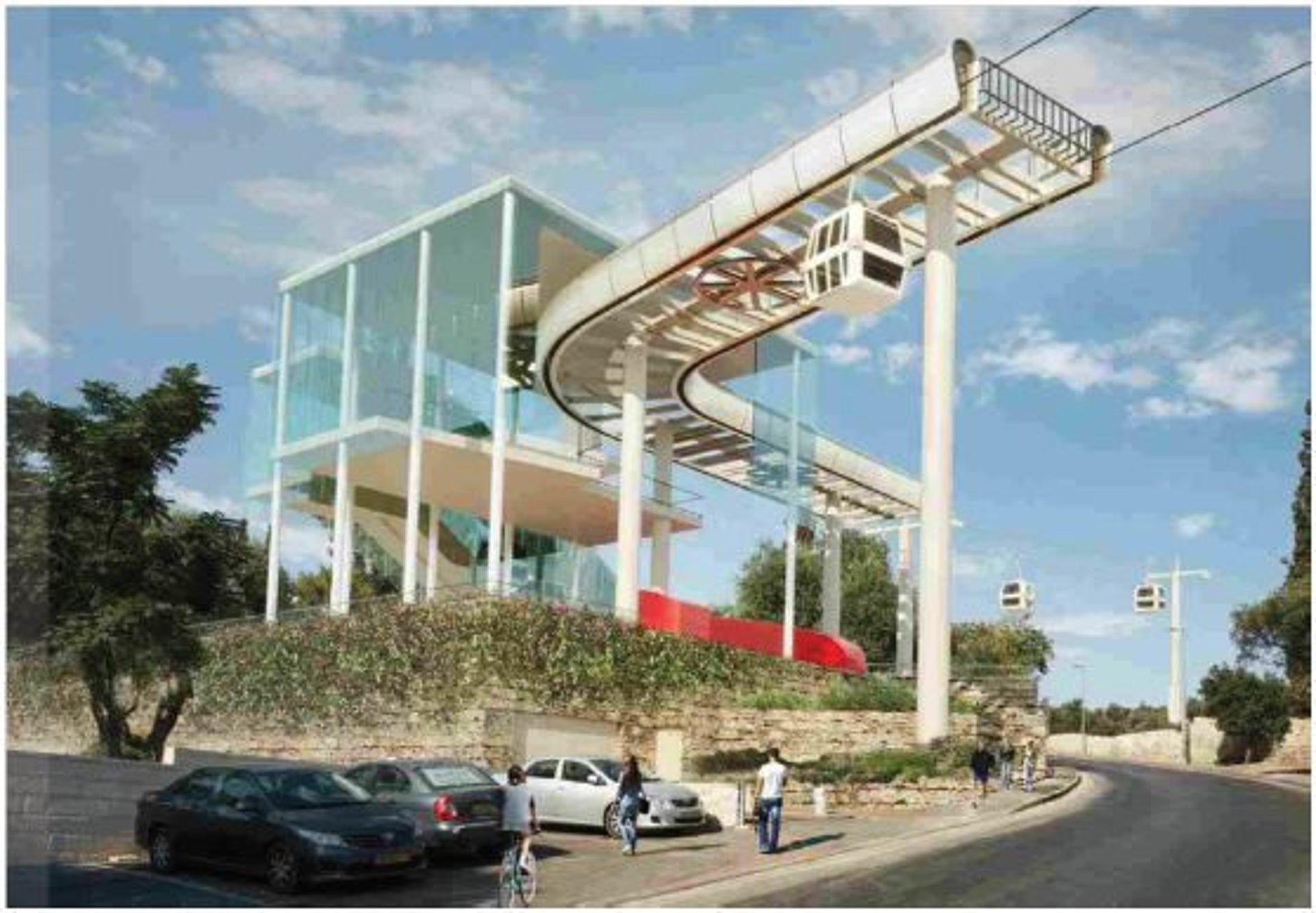 A station on the proposed Jerusalem cable-car route.