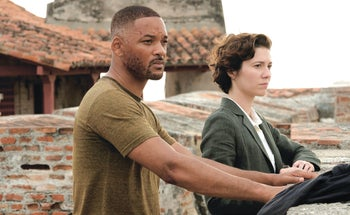 "Will Smith and Mary Elizabeth Winstead in ""Gemini Man."""