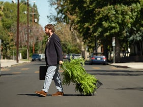 """Zach Galifianakis plays a clueless bumbler in """"Between Two Ferns: The Movie."""""""