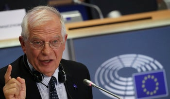European Commissioner-designate for a Stronger Europe in the World Josep Borrell Fontelles of Spain speaks during his hearing before the European Parliament in Brussels, Belgium October 7, 2019.