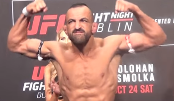 Iranian-born MMa athlete Reza Madadi.