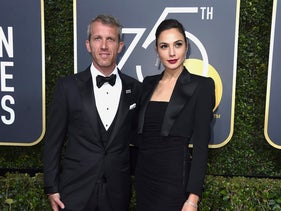 Gal Gadot and Yaron Versano arrive at the 75th annual Golden Globe Awards at the Beverly Hilton Hotel, January 7, 2018.