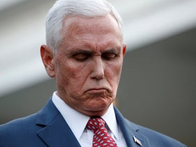 Mike Pence announces departure to Mideast to lead mediation efforts, Washington, D.C., Monday, October 14, 2019